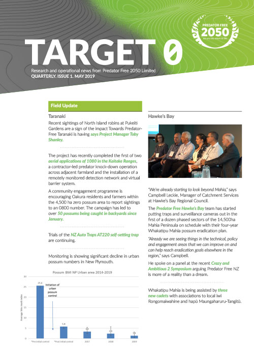 Target 0 Newsletter May 2019