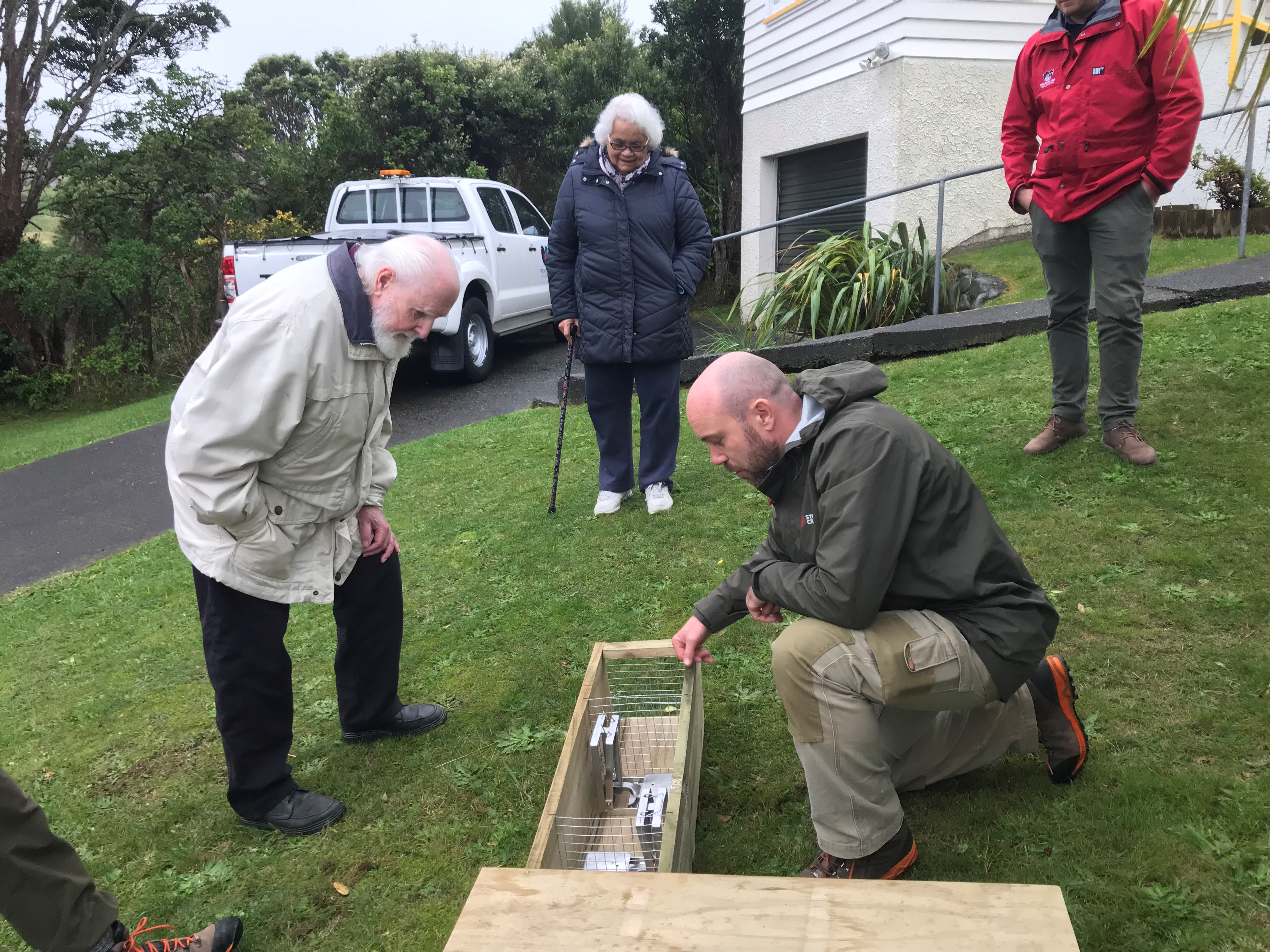 Predator Free Wellington showing residents traps