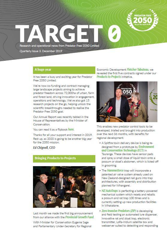 Target 0 Newsletter December 2019